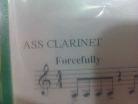 A** clarinet - Funny picture at PMSLweb.com
