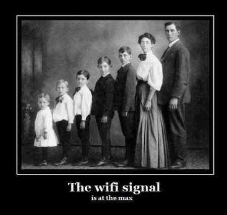 The wifi signal is at the max humor - Friday funnies at PMSLweb.com