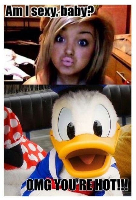 Donald finds duckfaces hot - Hump day funnies at PMSLweb.com