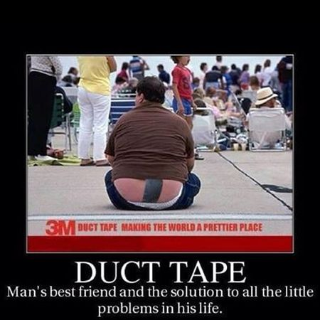 Duct tape demotivational - Hump Day fun at PMSLweb.com