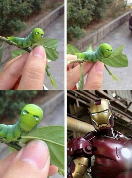 Iron man caterpillar at PMSLweb.com
