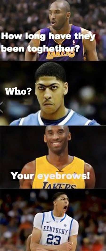 Basket ball eyebrows humor at PMSLweb.com