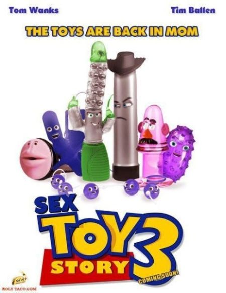 Sex toy story poster at PMSLweb.com