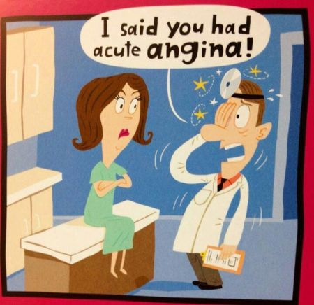Acute angina cartoon at PMSLweb.com