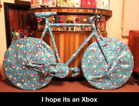 Christmas present humor at PMSLweb.com