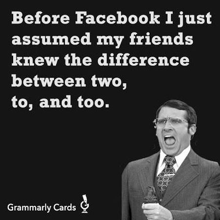Before facebook grammar funny at PMSLweb.com