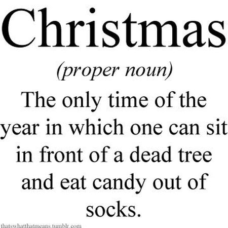 Christmas definition humor  at PMSLweb.com