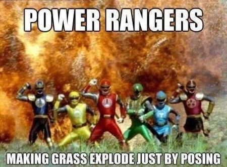 Power rangers making glass explode meme at PMSLweb.com