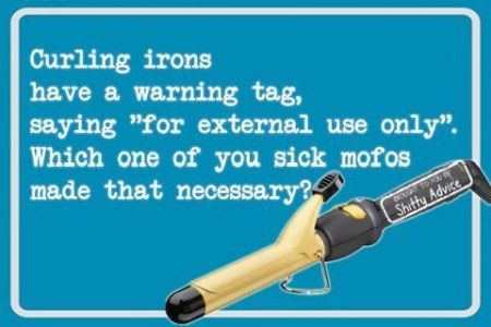 Curling irons have a warning tag at PMSLweb.com