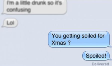 You getting soiled for Christmas iPhone autocorrect at PMSLweb.com