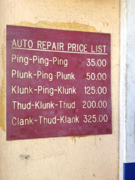 Auto repair price list - Funny picture at PMSLweb.com