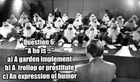 Quiz for Santas - Christmas funnies at PMSLweb.com