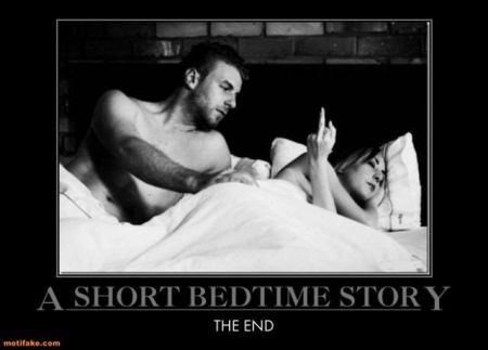 Short bedtime story demotivational - Sarcastic pictures at PMSLweb.com