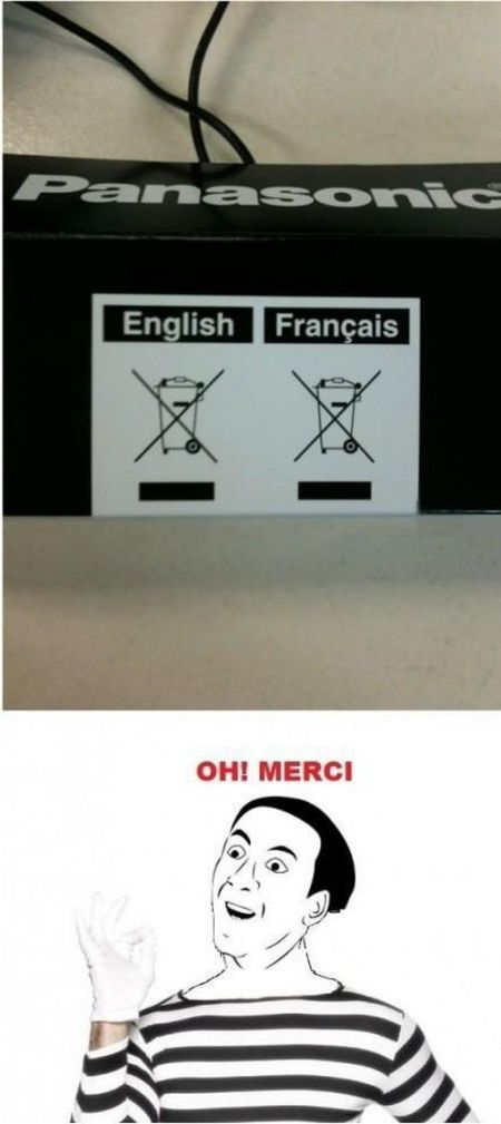 English French Panasonic meme - Funny pictures at PMSLweb.com