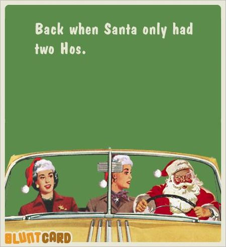 Back when santa only had 2 hos - Christmas funnies at PMSLweb.com