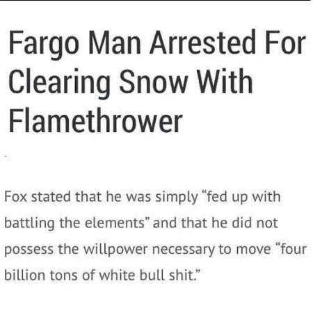 Man arrested for cleaning snow with flamethrower at PMSLweb.com