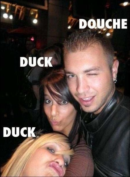 Douchebag and duck faces at PMSLweb.com