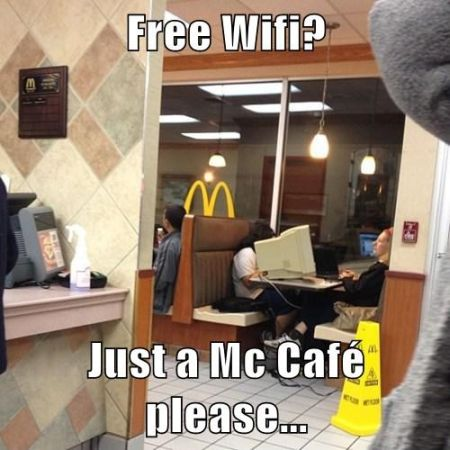 Free wifi at Mc Donalds funny at PMSLweb.com
