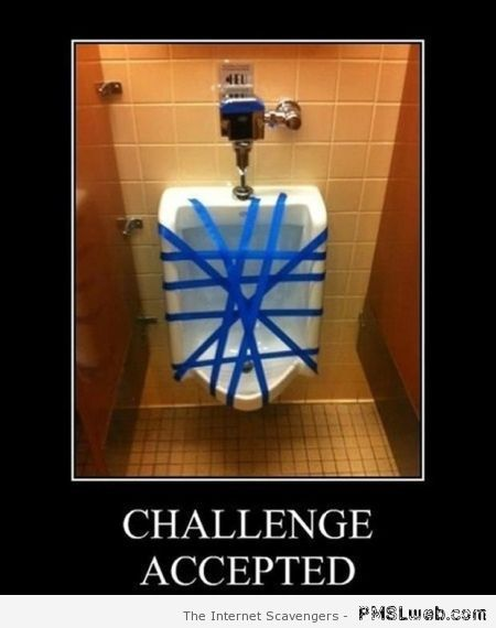 Challenge accepted – Funny picture gallery on PMSLweb.com