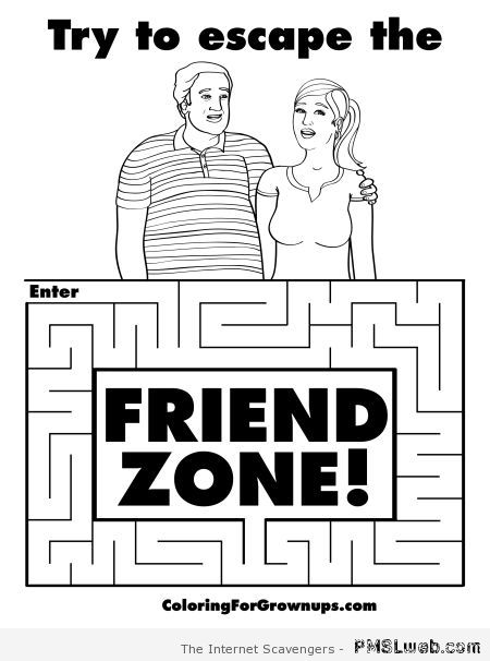 Escape the friendzone puzzle – Procrastination humor at PMSLweb.com