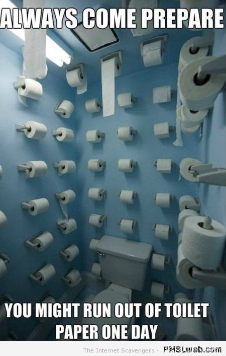 Never running out of toilet paper meme at PMSLweb.com