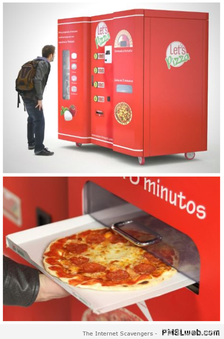 Pizza Vending machine at PMSLweb.com