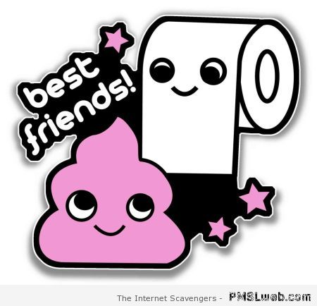 Best friends toilet paper and pink poo at PMSLweb.com