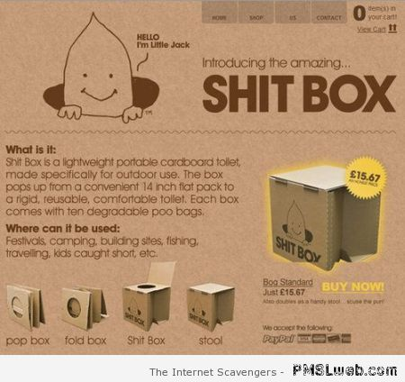 The shit box at PMSLweb.com