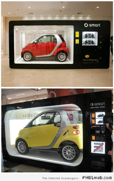 Smart car vending machine at PMSLweb.com