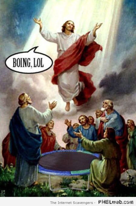 Jesus on trampoline – Fun pictures at PMSLweb.com