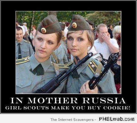 Girl scouts in Russia demotivational – Rofl pics at PMSLweb.com