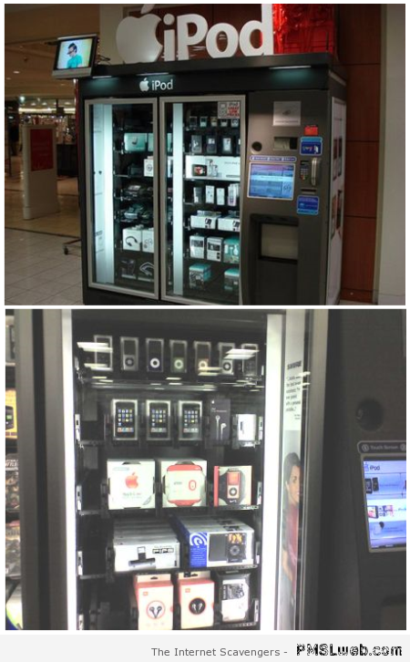 Ipod and iPhone – Apple vending machines at PMSLweb.com