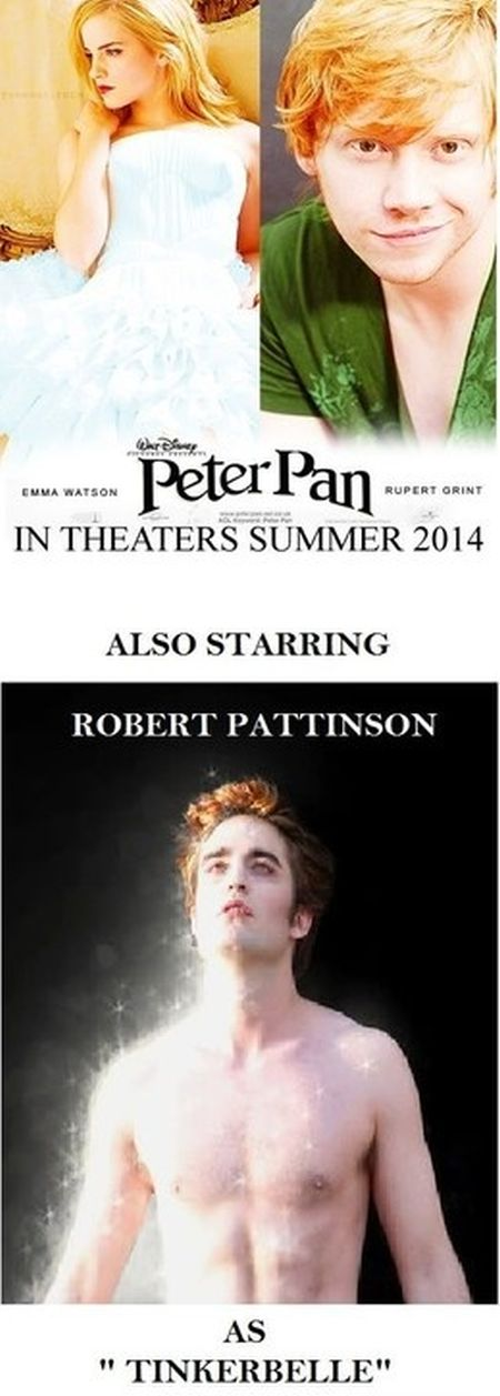 Robert pattinson as Tinkerbelle – Hump Day goodies at PMSLweb.com