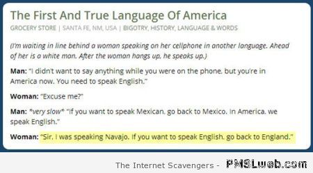 The first and true language of America at PMSLweb.com