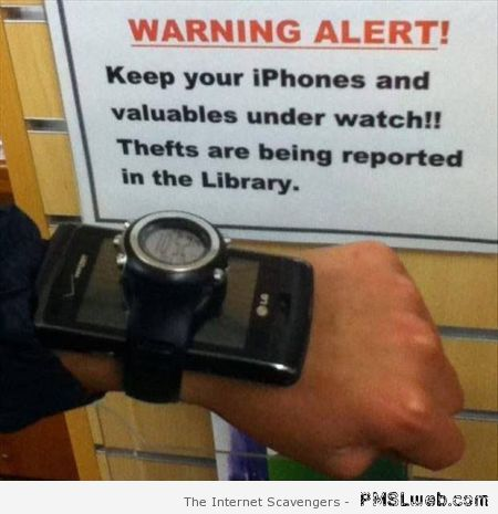 Keep your iPhones under your watch at PMSLweb.com