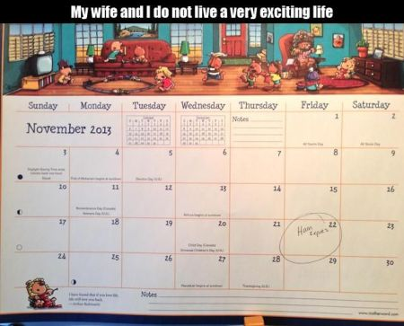 Wife and I do not have an exciting life at PMSLweb.com