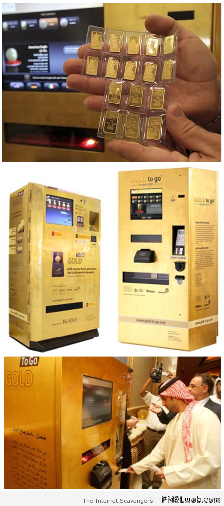 Gold dispenser – Weird Vending machines at PMSLweb.com