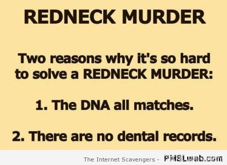 Redneck murder – Tgif laughter at PMSLweb.com