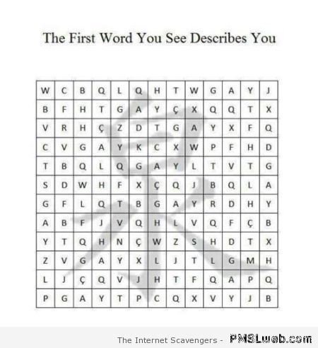 The first word you see describes you at PMSLweb.com