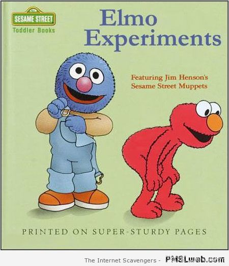 Elmo experiments fake book cover at PMSLweb.com
