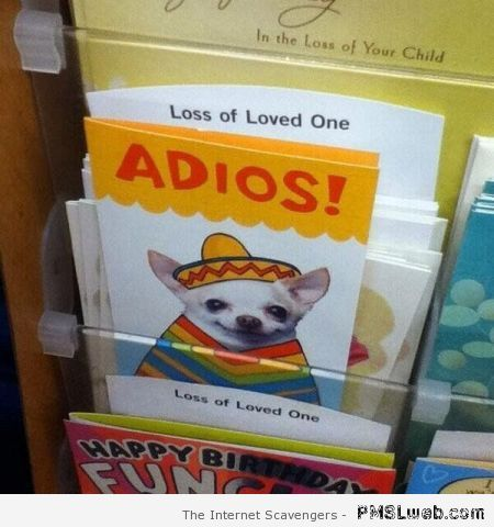 Loss of loved one card fail – Daily humor at PMSLweb.com