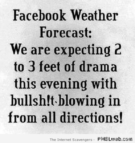 Facebook weather forecast – Hilarious pictures at PMSLweb.com