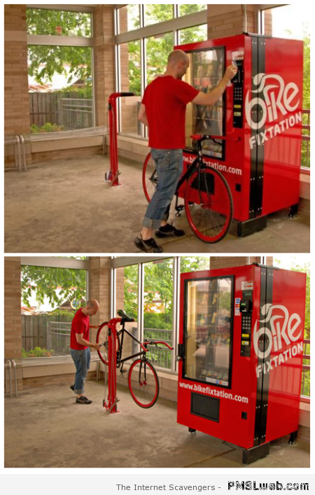 Bike fixtation – Weird Vending machines at PMSLweb.com