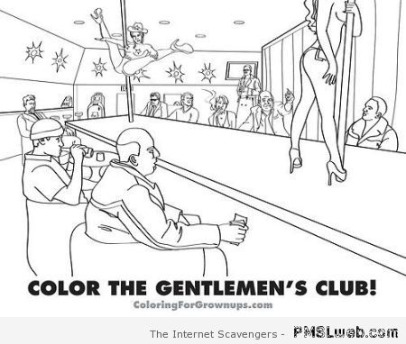 Color the gentlemen's club at PMSLweb.com