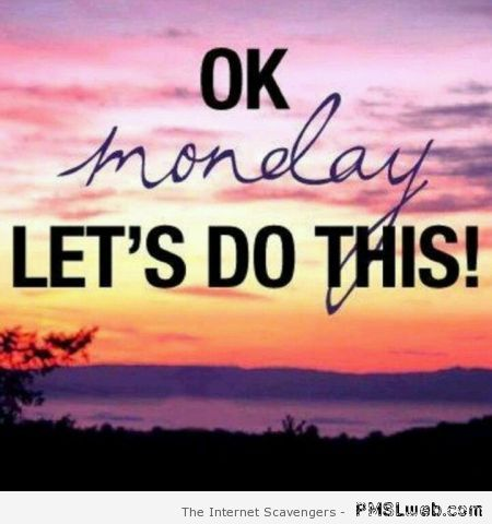 Ok Monday let's do this at PMSLweb.com