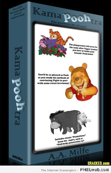 Kama poo tra fake book cover at PMSLweb.com