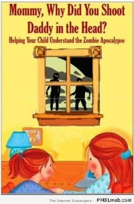 Zombie apocalypse book for children at PMSLweb.com