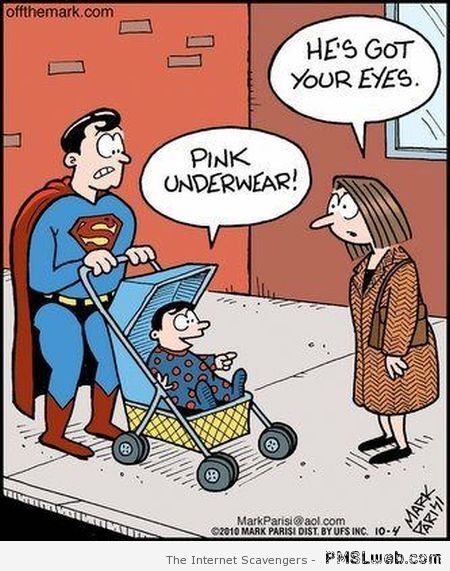 Funny superman cartoon – Daily humor at PMSLweb.com