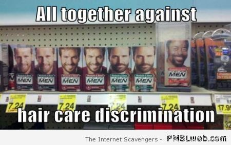 Hair care discrimination meme at PMSLweb.com