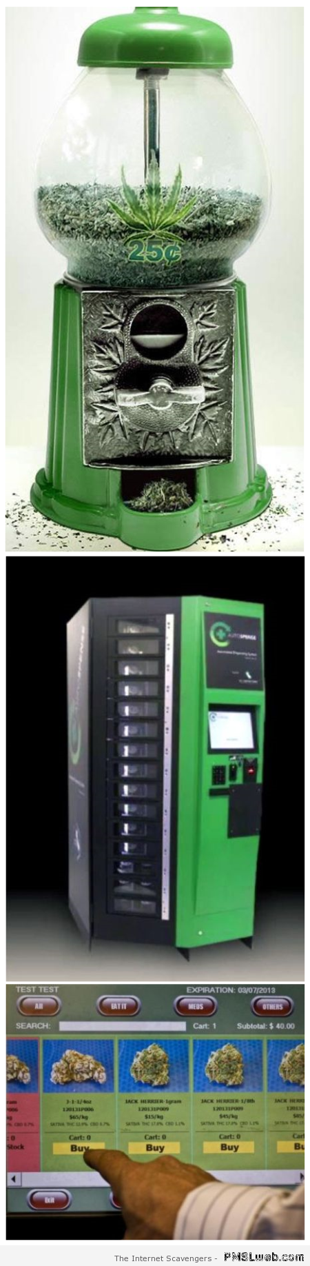 Marijuana vending machine at PMSLweb.com